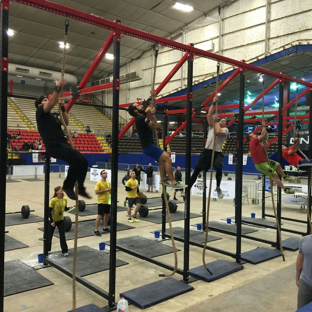 Legless Rope climbs at The 2016 Fittest Games.