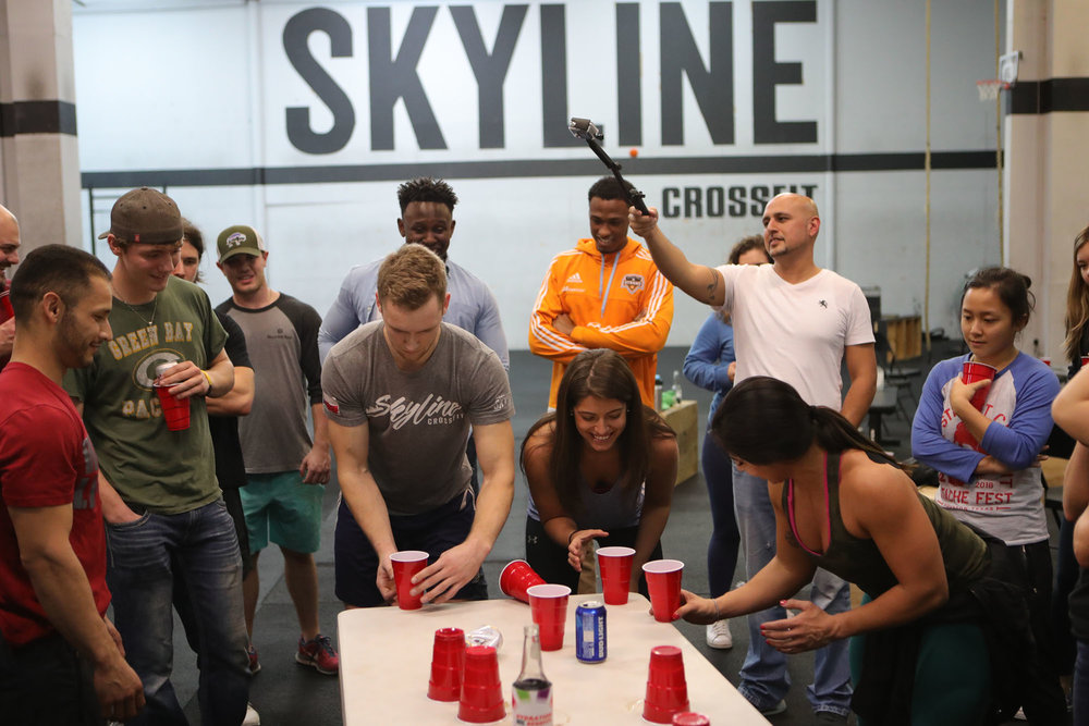 Flip Cup at the Battle of the Sexes!