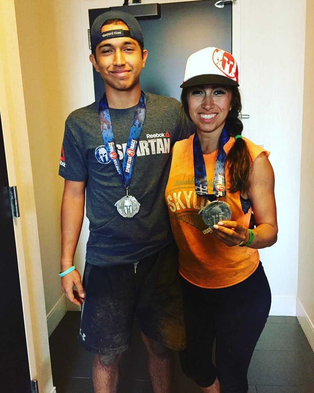 Debbie and her son after finishing the Spartan Super 2017.  I love seeing Skyline  athletes using thier fitness for things outside the gym.