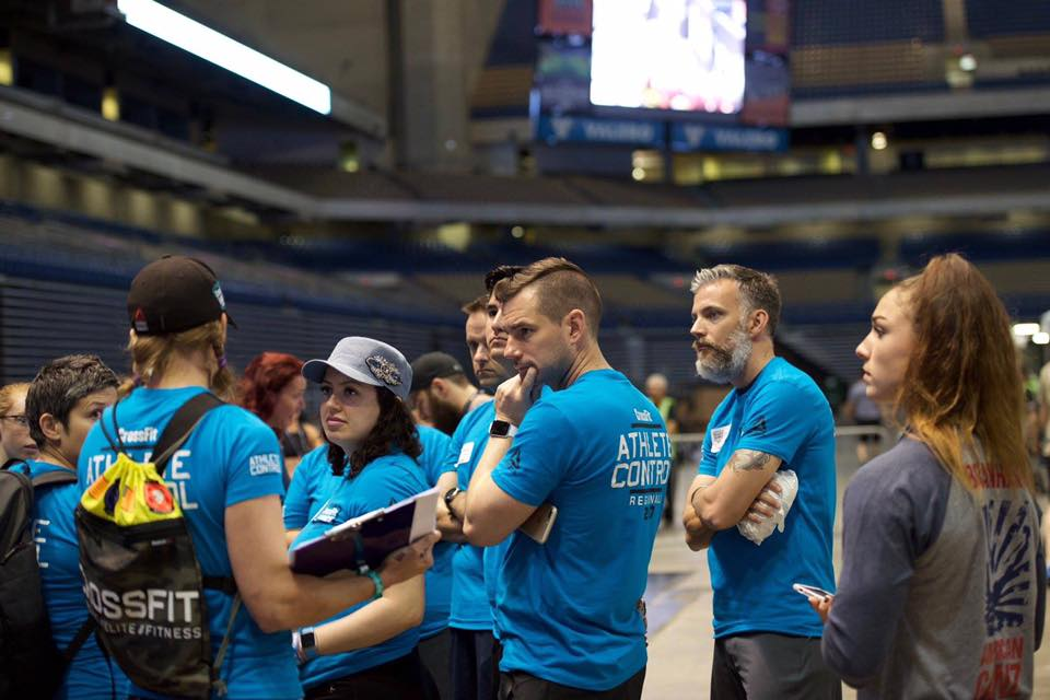 Thomas Phillips volunteering in athlete control for The CrossFit Games  South Super Regionals in San Antonio last weekend.