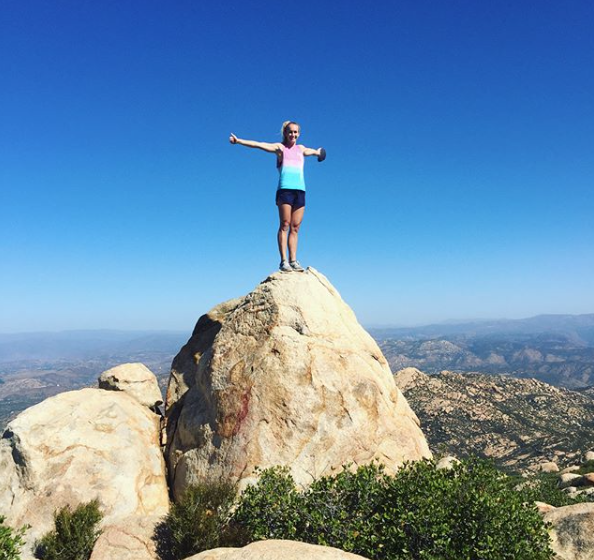 Skyline athlete Kiah Baker showing her fitness can be used outside of the gym. Go out and explore, try new things!