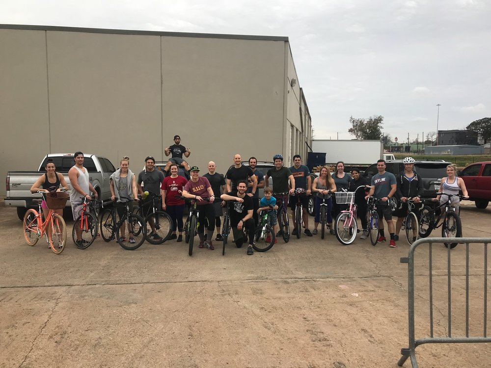 Great group for Bring your Bike Day. Great way to get outside and get a workout in! Fun stuff!