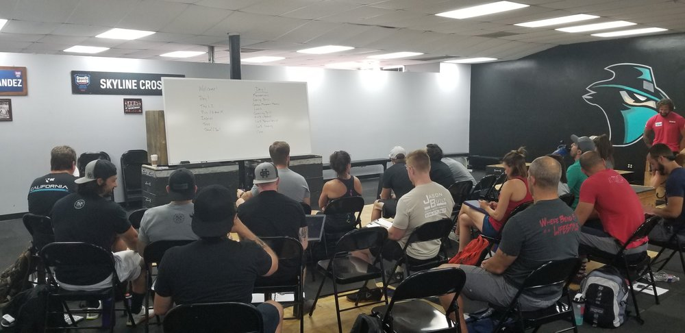 A room of people trying to better themselves to in turn better their members. It was a honor to do a  Level 2 with this badass group of people.