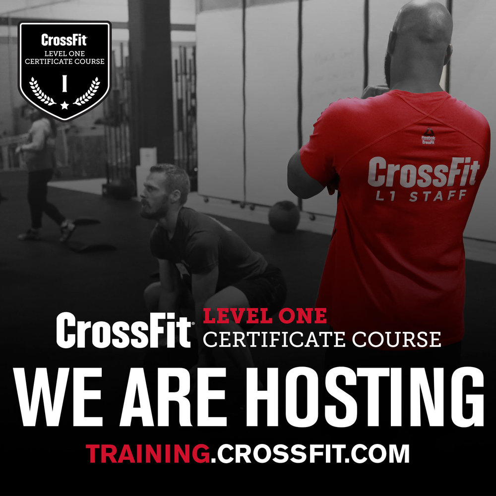 CrossFit Level 1 Certificate Course in Houston, TX @Skyline CrossFit August 18 - 19, 2018  sign up at  training.crossfit.com