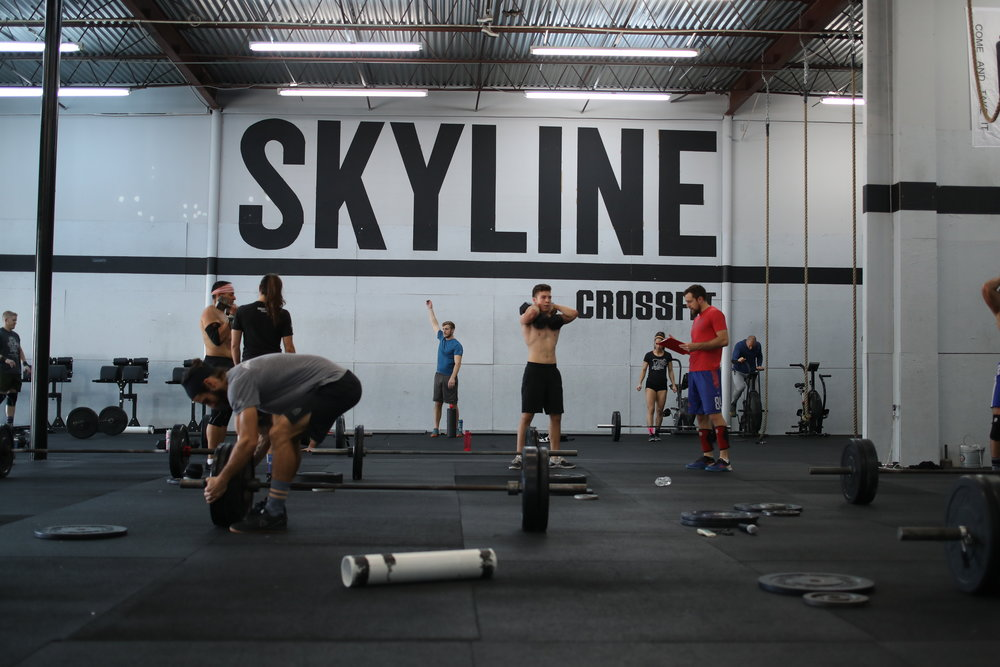A view to what a everyday member at Skyline CrossFit walks in a sees. Gametime!