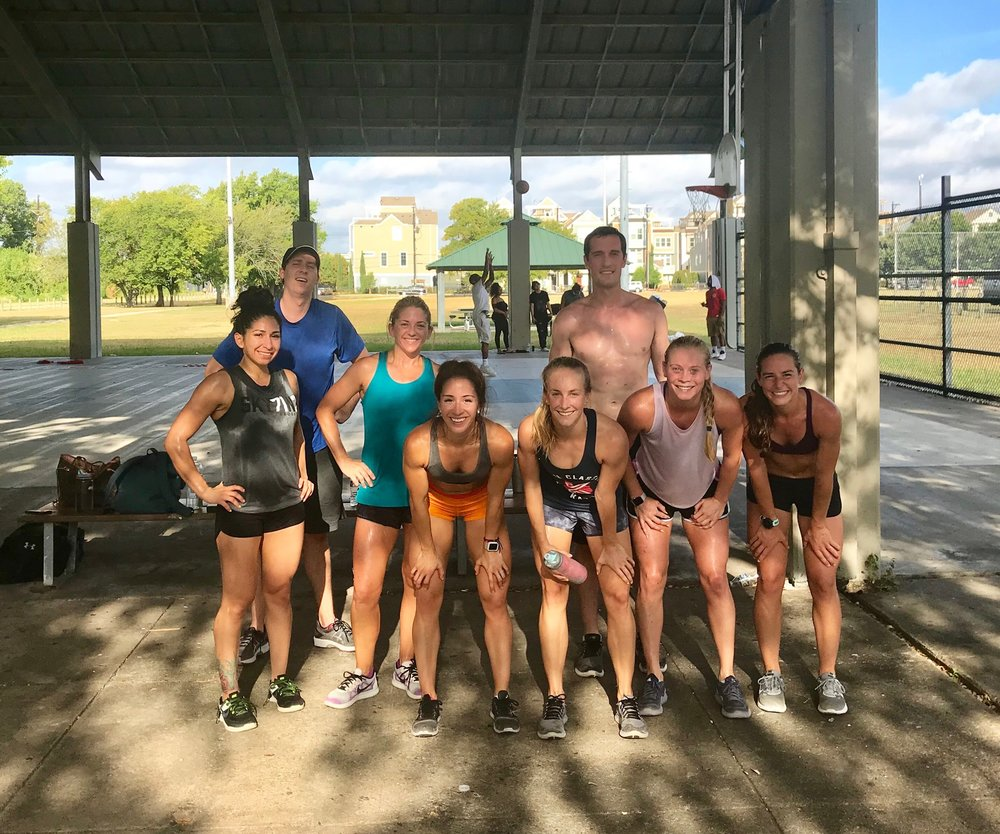 "Park WOD with the crew.  As CrossFit Founder Greg Glassman puts it: ""If you can workout outside, do it."""