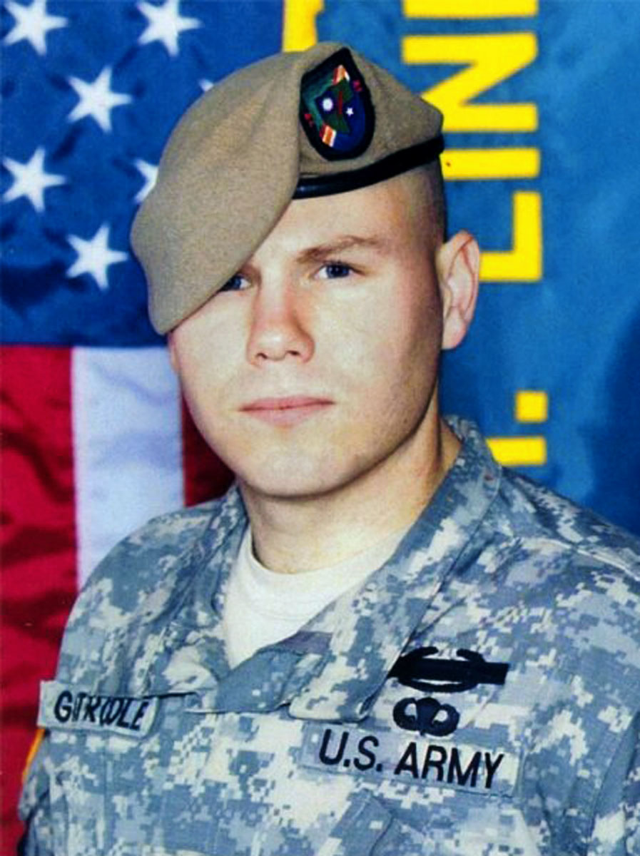 """U.S. Army Specialist Christopher """"Gator"""" Gathercole, 21, of Santa Rosa, California, assigned to 2nd Battalion, 75th Ranger Regiment, based in Fort Lewis, Washington, was killed by enemy fire on May 26, 2008, in Ghazni, Afghanistan. He is survived by his brother Edward, sisters Jennifer Daly and Sarah Ferrell, father Edward Gathercole, and mother Catherine Haines."""