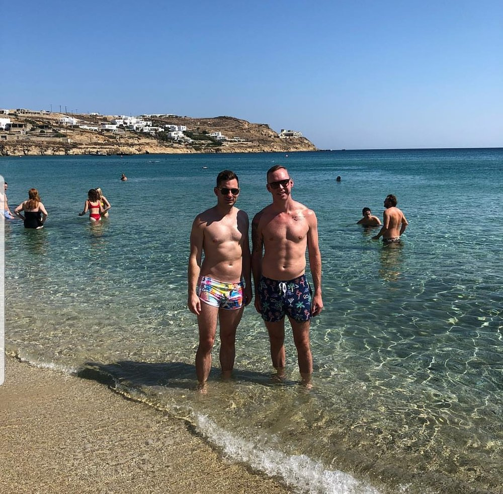 Congratulations to Thomas and Matt on their recent engagement while on vacation in Greece.