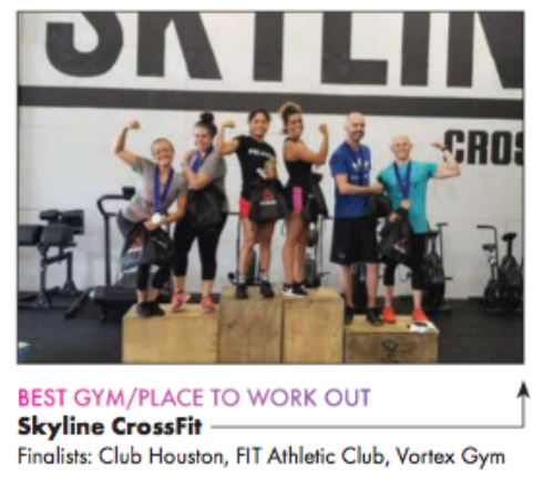 Skyline CrossFit was named Best Gym by Houston's Out Smart Magazine!