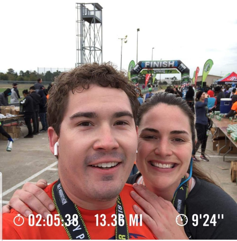 Congratulations to Lee Smalley and Jenniefer Beierle in completing a Half Marathon!