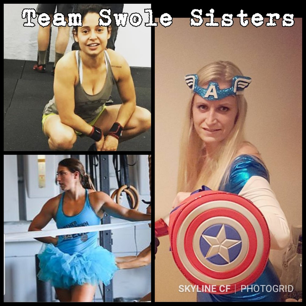 First Skyline Women's Intermediate Team signed up! Team Swole Sisters: Ana Quesnel, Maggie Pueringer, and Brittany Sadoff!