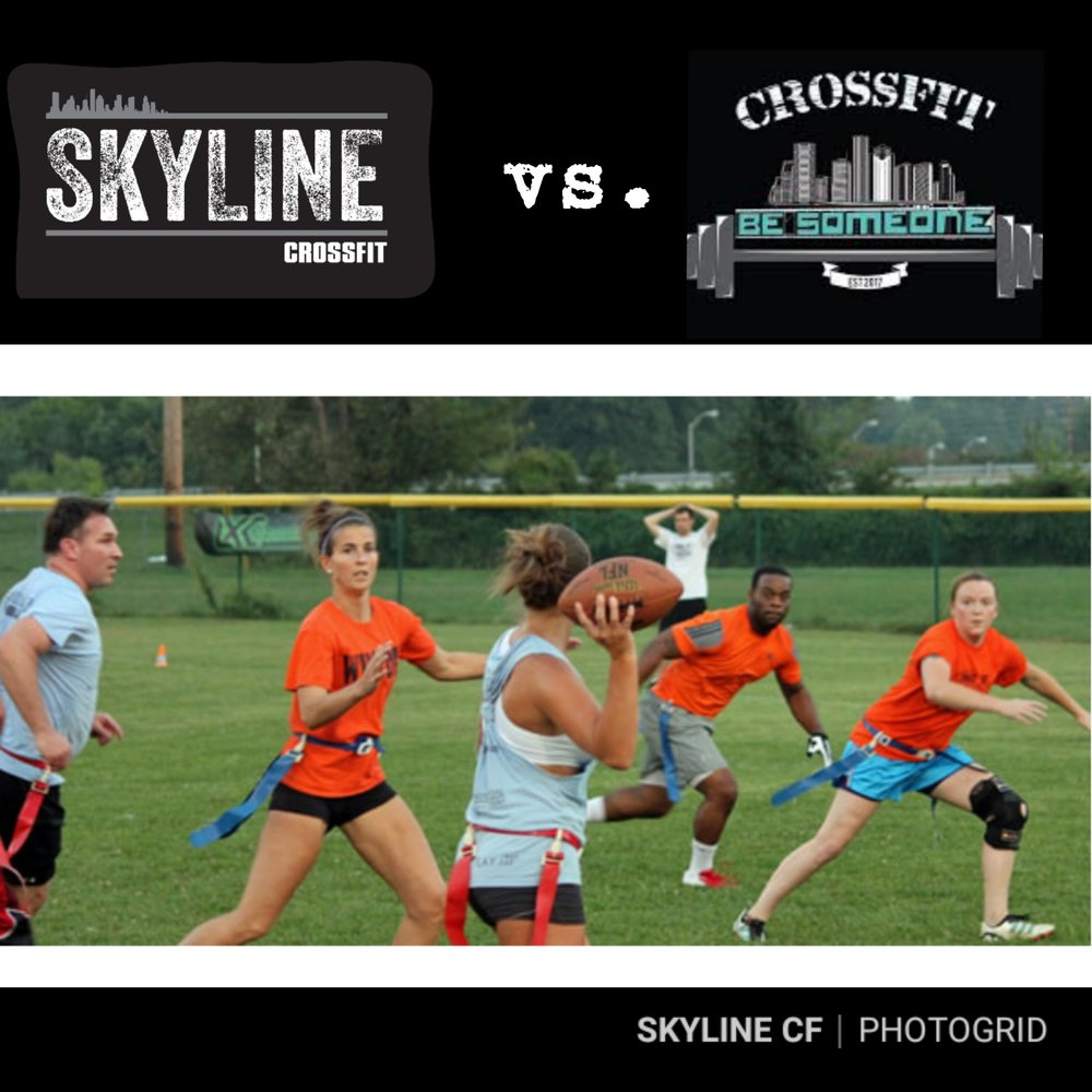 This Saturday Skyline CrossFit and CrossFit Be Someone will be hosting a community Park WOD at 9am and a friendly Flag Football Game afterwards. This will be held at Love Park. Hope to see everyone out!