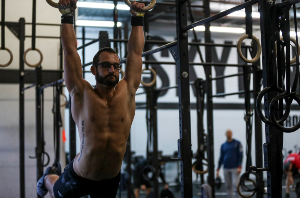 Ryan showing us his Ring Muscle Ups during 18.3.