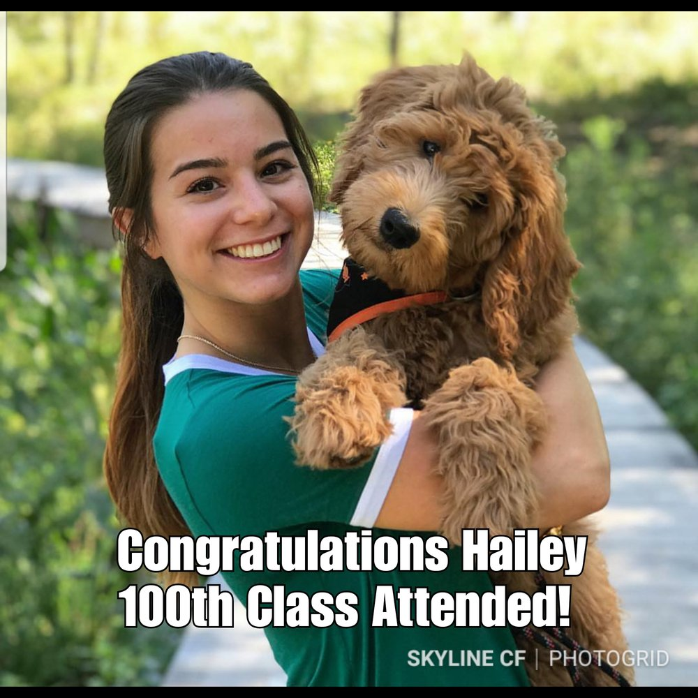 Hailey just joined the 100th class club! Congratulations Hailey!