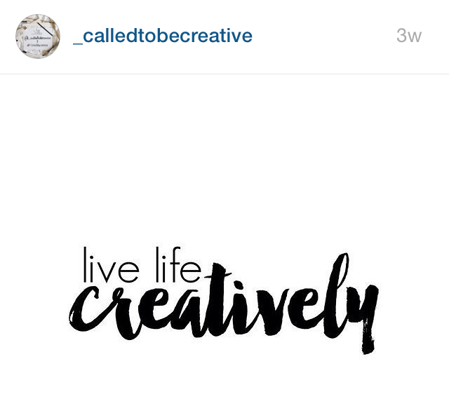 LK on Called To Be Creative