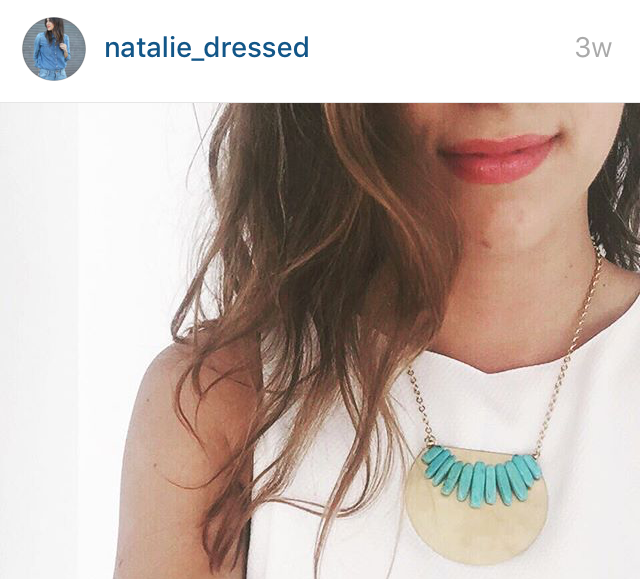 LK on Natalie Dressed Instagram