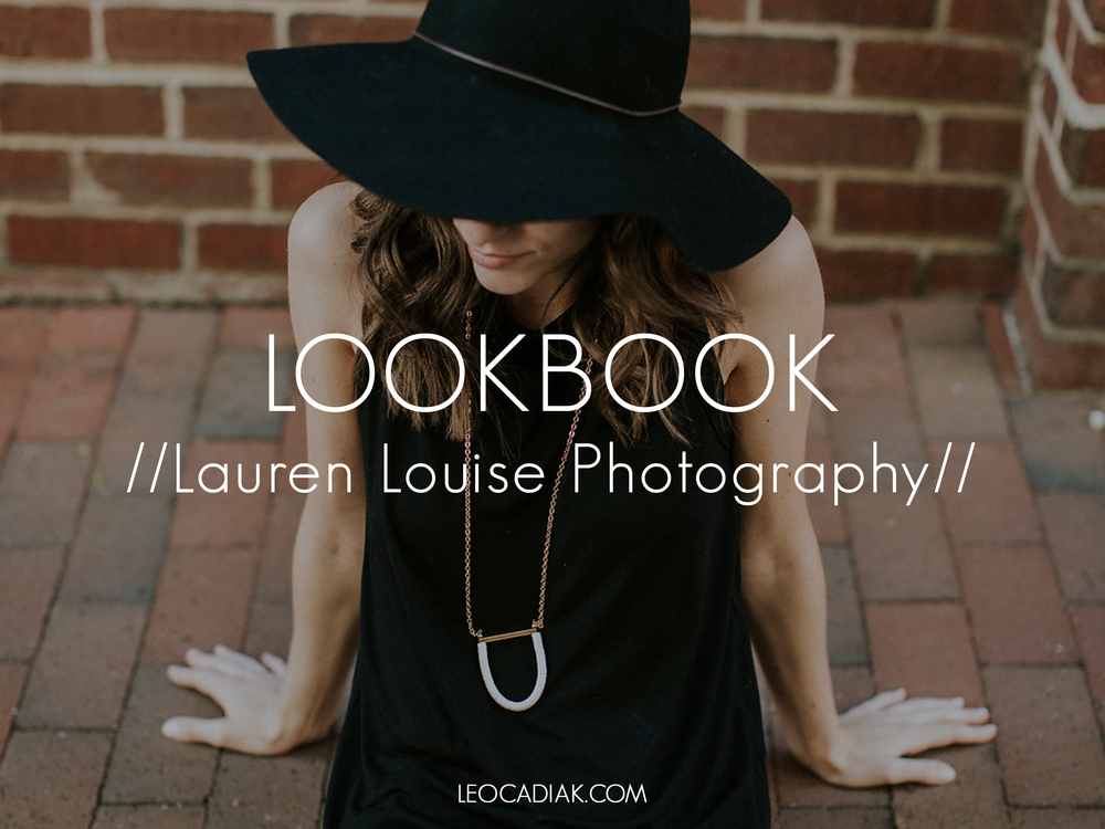 Photography:  Lauren Louise Photography    // Model:  Casey Wrona  // Necklaces:  Leocadia K.