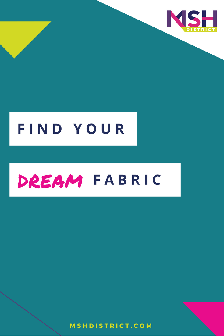 Find Your Dream Fabric . MSH District - Fashion Startup Fund. What if you could simply print out your ideas?? Having a great idea is only a small piece of the puzzle to successfully building a product that sells - you must weave innovation and problem solving into every aspect of your business - ESPECIALLY the fabric. http://www.mshdistrict.com/blog/find-your-dream-fabric