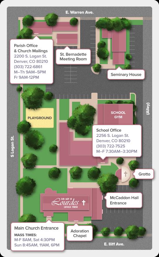 Lourdes Campus Map