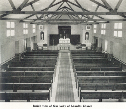 Inside church s  anctuary, 1949