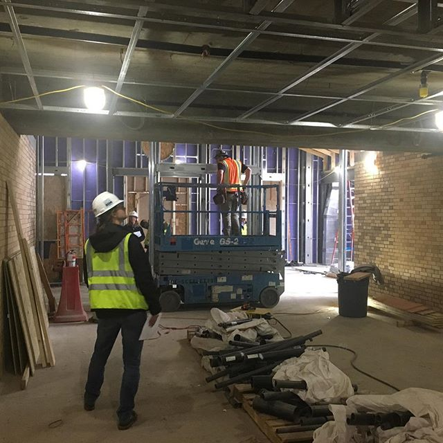 View looking west, into the new narthex!