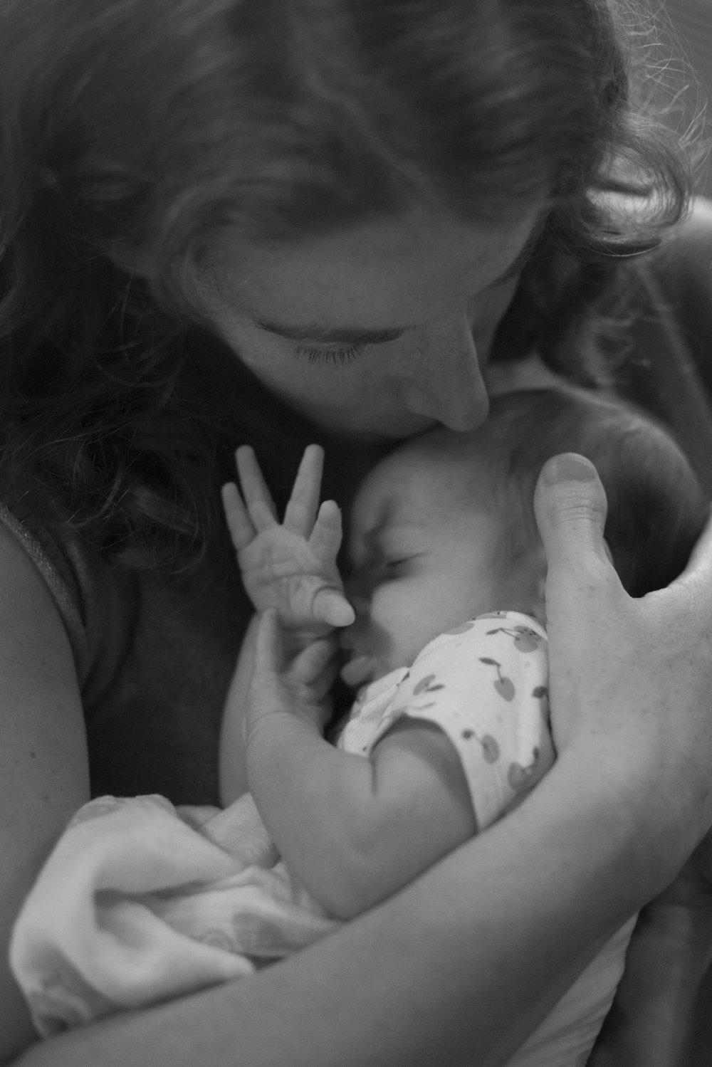 Jenn and Emmeline, 3 weeks old.