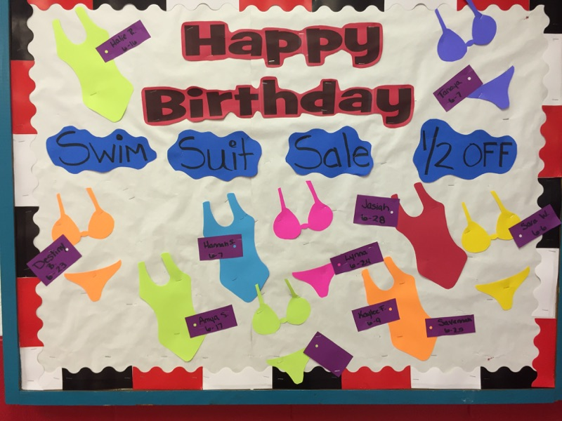 June 2015 Birthday Board