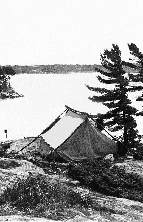 The Ojibway employed as many as 25 fishing guides a season. Many camped with their families on the back of the island for the summer.