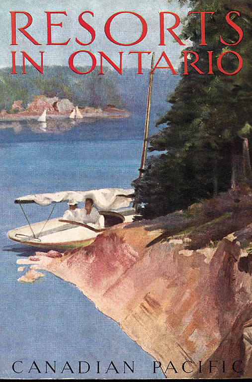 CPR employed gifted artists to produce elegantly designed brochures and posters enticing adventurous vacationers to romantically remote locations in Ontario.