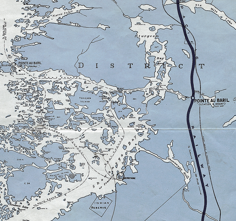 The station offered easy access to the Pointe au Baril islands.