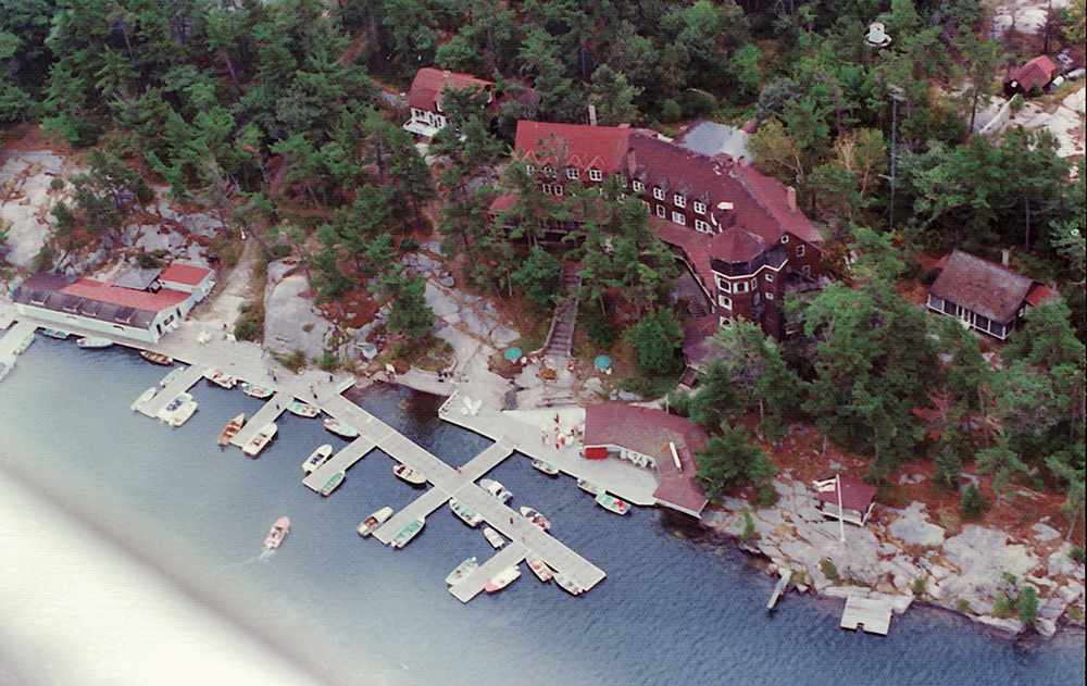 Bird's-eye view of the Ojibway dock.