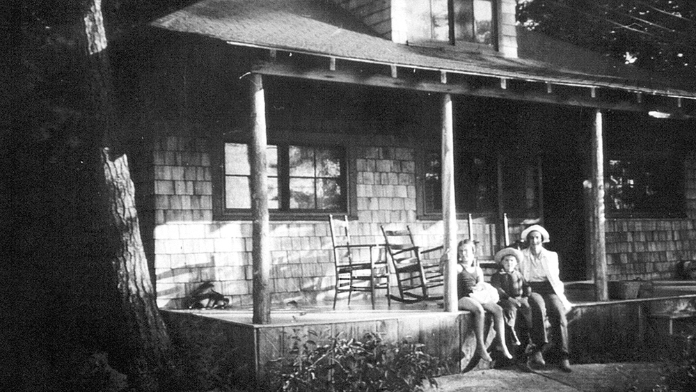 A main feature of summer vacations was lazing around on the front porch of a cottage, such as Oakwood.