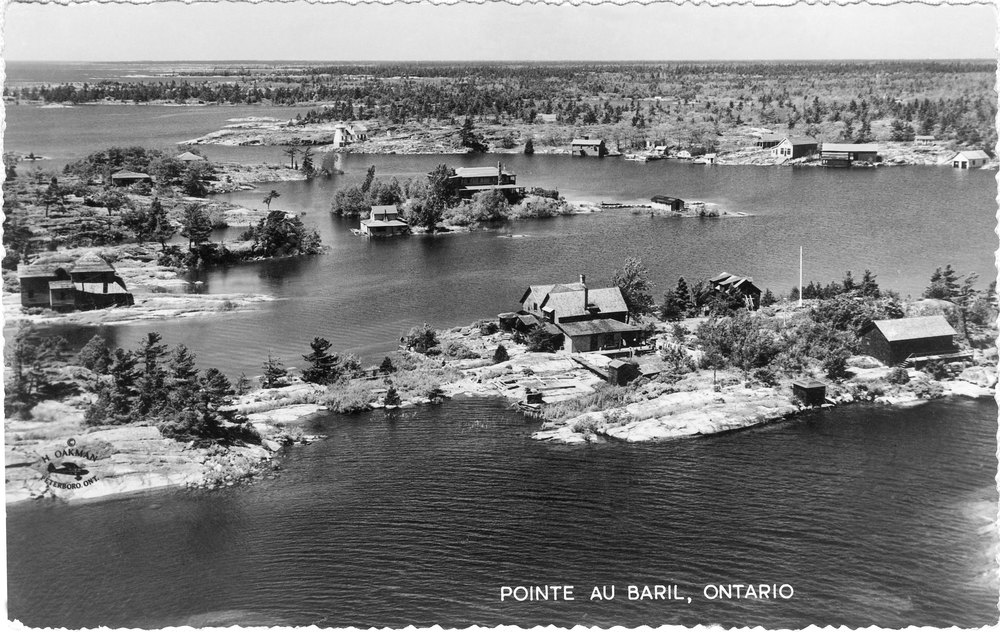 "The first centre of the summer community of Pointe au Baril was the ""Village,"" a cluster of buildings."