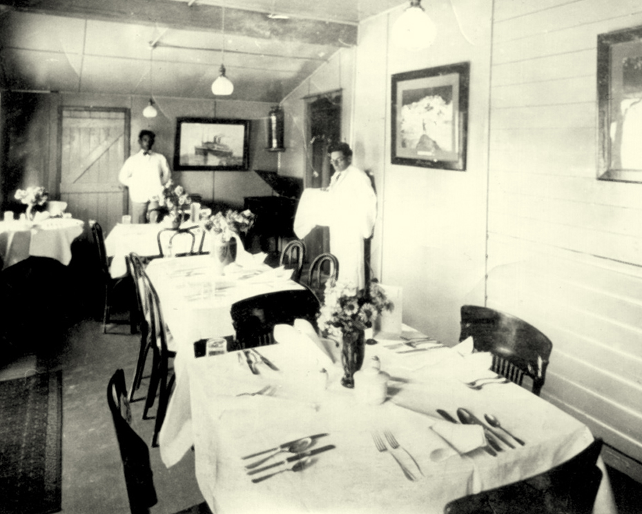 "For holidayers ""sharp-set with hunger and desirous of appeasing it before embarking,"" meals were offered on the Pointe au Baril dock at Gordon Jacobs' CPR restaurant."