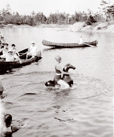 Holidays at Pointe au Baril and at the Ojibway were not fast paced and not crowded with events. Things moved slowly.  Swimming parties, picnics, canoeing, sailing races – all provided opportunities for families to relax and get together.