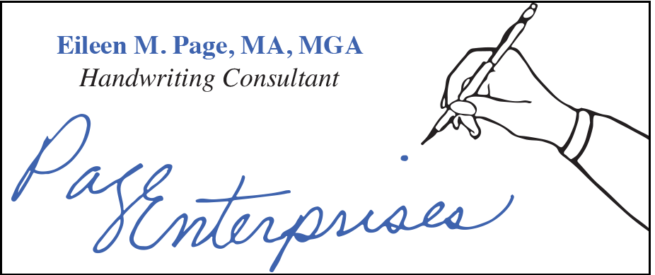 Eileen M. Page Handwriting Consultant