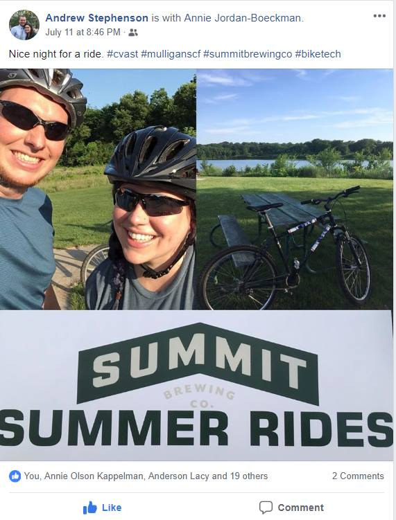 2018 Summer Summit Ride winner  -  Andrew Stephenson!