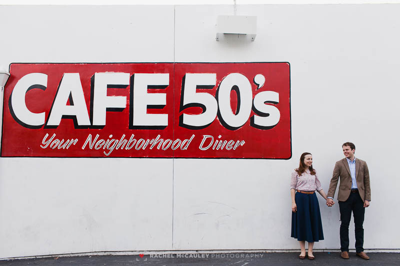 cafe 50s los angeles engagement -9558