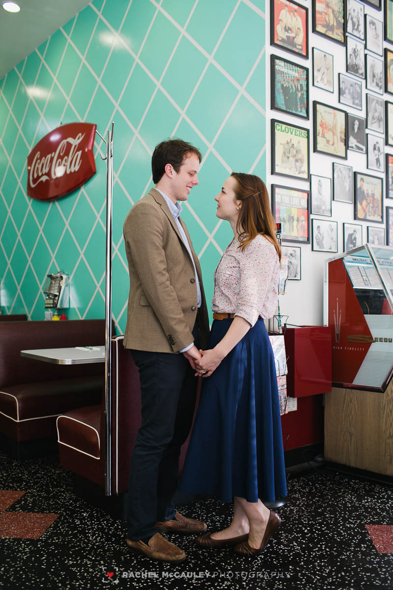 50s diner, 50s diner engagement, 50s engagement, 50s theme, 50s theme engagement, cafe 50s, cafe 50s engagement, engagement, engagement photographer, jukebox, los angeles, los angeles wedding, los angeles wedding photographer, love, pasadena, pasadena engagement, pasadena wedding photographer, shakes, vintage photo