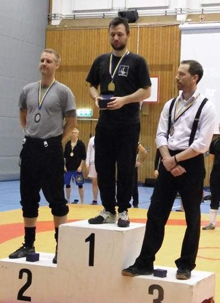 Swordfish 2014 Rapiirin palkintopalli: Hans Jörnlind (vas.) sai hopeaa. Kultaa keräsi Piermarco Terminello (kesk.) ja pronssia Rob Runacres(oik).