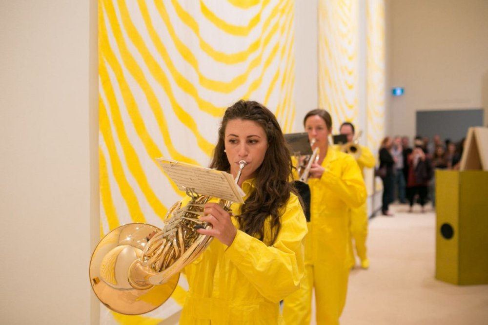 "Sandra Meigs' ""Room for Mystics"" at the Art Gallery of Ontario comes accompanied with a three piece brass marching band, which performs at the gallery every day at 11:30. Photo © Christina Gapic. Courtesy Art Gallery of Ontario"