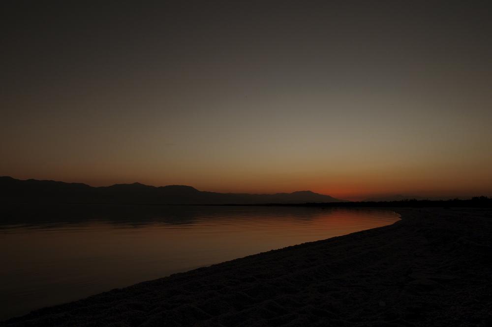 Dusk at the Salton Sea