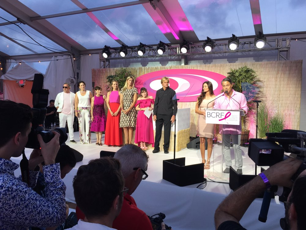 BCRF Hampton's event hosted by Ryan Seacrest with guests including Laird Hamilton, Gabriella Reese, and Questlove