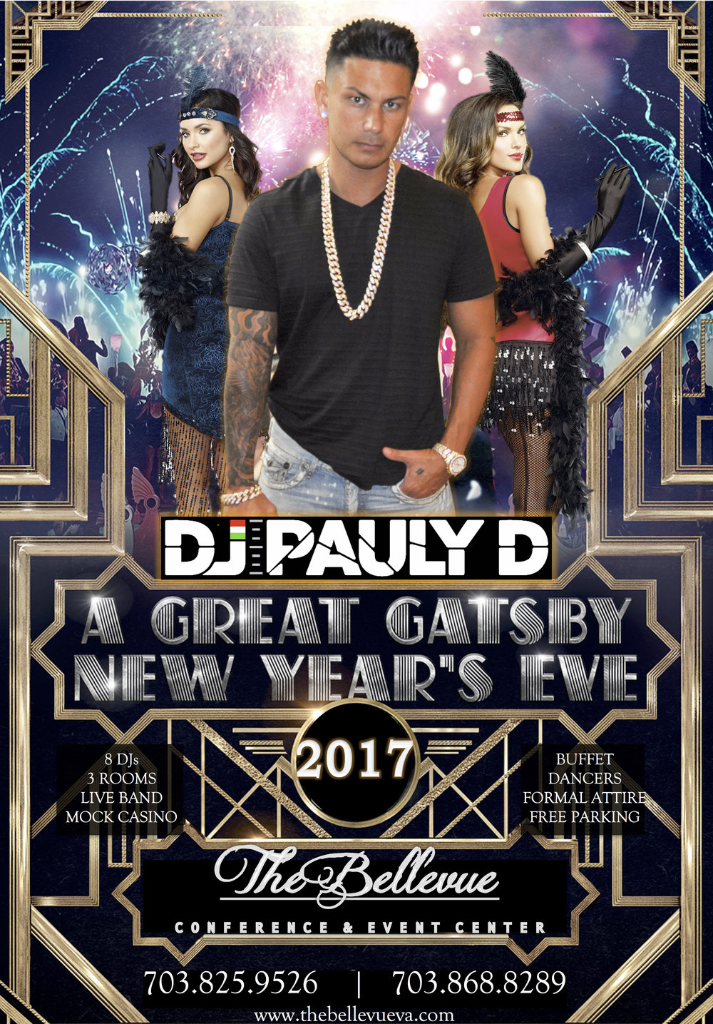 A Great Gatsby New Years Eve with DJ PAULY D December 31st 2016