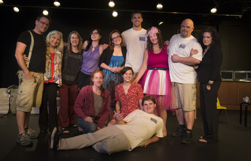 Red Pill Diaries  cast & crew, from left: Catori Swann, Dianne Chapman, Toni Sherwood, Alya Ayers, Jenni Robinson, Chelsea Lee Gaddy, Hayley Heninger, John Cantley, Bri Tureff, Dakota Mann, Darren Marshall, Mary Zogzas. Not pictured: Rachel McCrain.