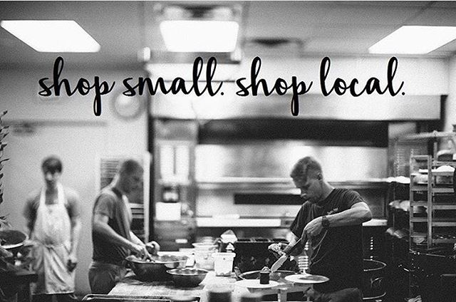 don't forget about Small Business Saturday tomorrow // we're grateful to be a small business that's been supported by local customers for many years. thank you guys and we hope to see many of you out & about supporting the community tomorrow 🖤 . . . #smallbusinesssaturday #shopsmall #breakbreadwithneighbors