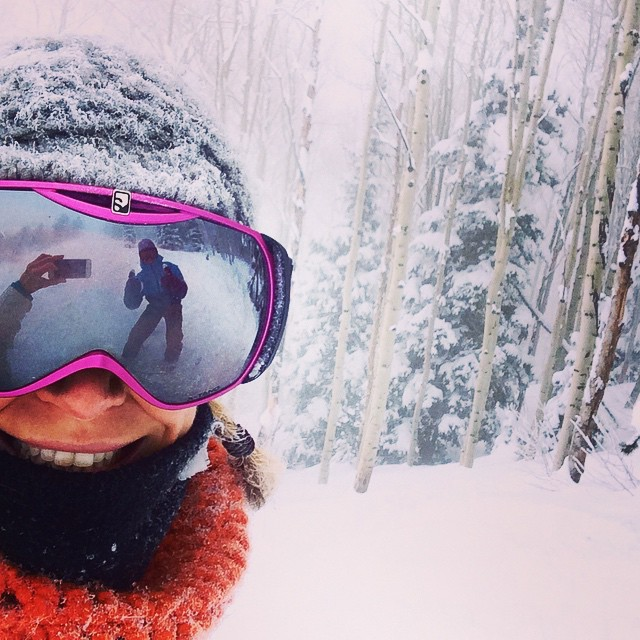 I'm like a bird, I wanna fly away….  On the slopes today! Tons of #powder. #fitness #ski #epic