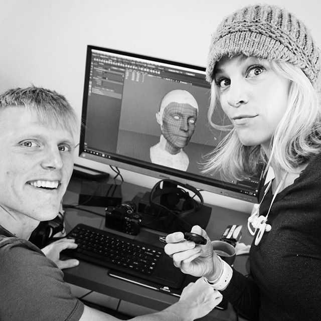 That's my face. On the computer. He's retopologizing. Wait, what?
