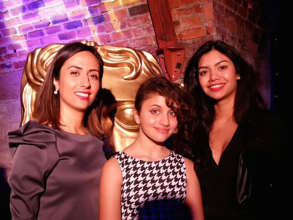 Dir. Bita Shafipour with Actors Hannah Ord and Hiftu Quasem at the 2015 BAFTA Scotland New Talent Awards