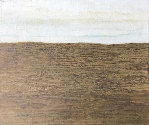 Acker bei München  Eitempera auf Leinwand, 42x50,5cm  1977  PREIS: 800 EUR
